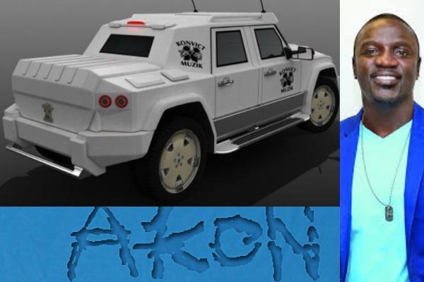 Akon-and-his-Dartz-Prombron-SUV