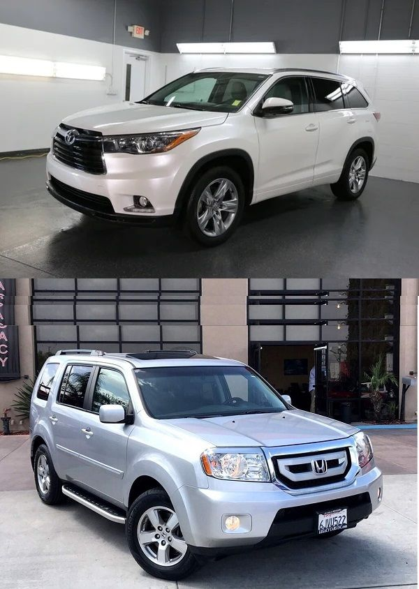 Toyota-Highlander-and-Honda Pilot