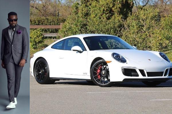 Sarkodie-and-his-Porsche-Carrera
