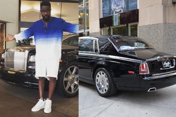 Sarkodie-with-his-Rolls-Royce-Phantom