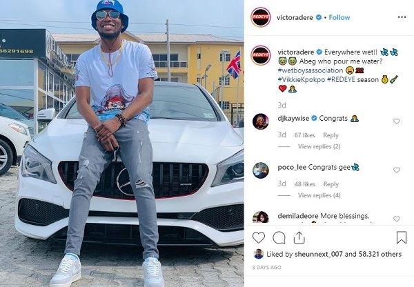image-of-victor-adere-IG-post-on-his-mercedes