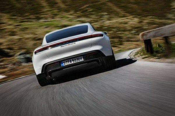 Back-view-of-all-electric-2020-Porsche-Taycan-sports-car