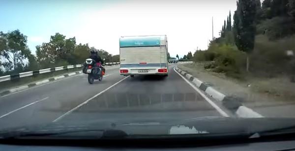 biker-overtaking