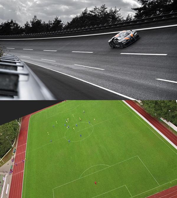 Modified-Thor-Bugatti-Chiron-304mph-vs-football-pitch