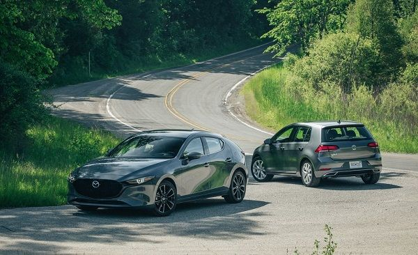 2019-Mazda-3-Vs-2019-Volkswagen-Golf