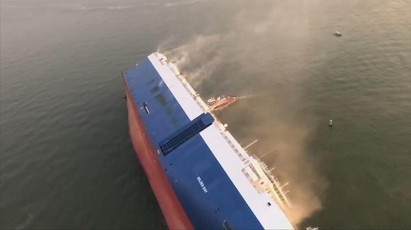 Cargo-ship-capsizes-in-Georgia-USA