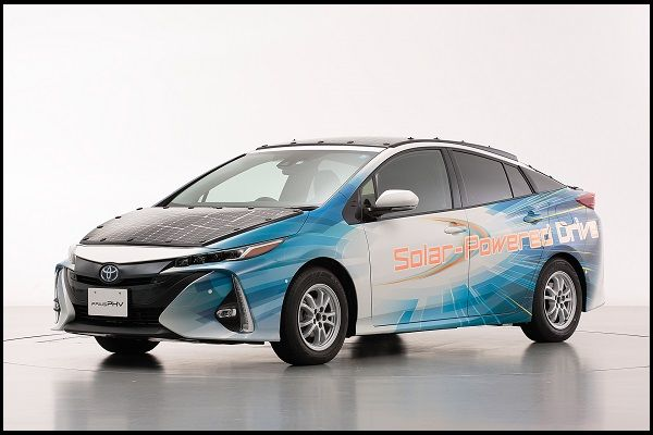 Side-view-of-Solar-powered-Toyota-Prius-PHV