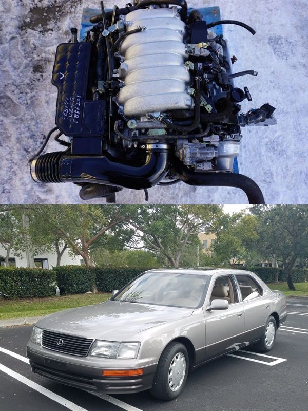 The-Lexus-V8-engine-and-LS-400