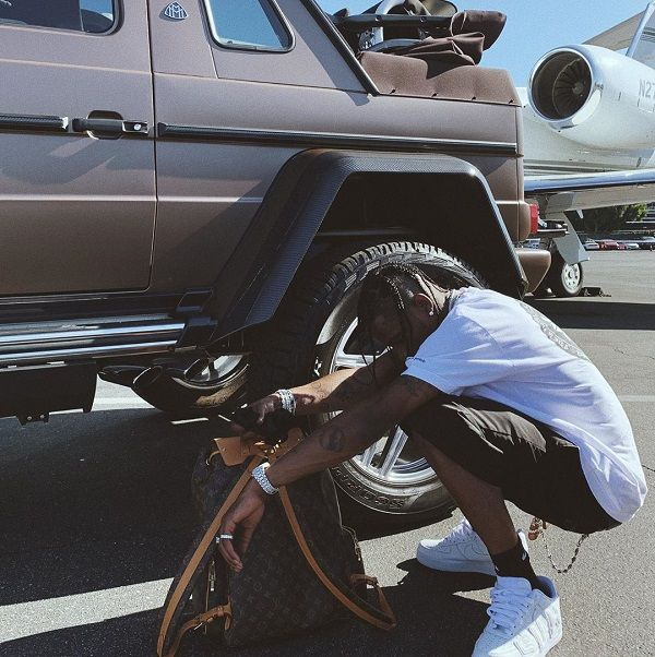 Travis-Scott-humble-poses-with-his-2018-Mercedes-Maybach-G650-Landaulet