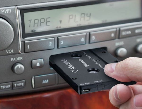Cassette-and-CD-player-on-the-dashboard-of-a-car