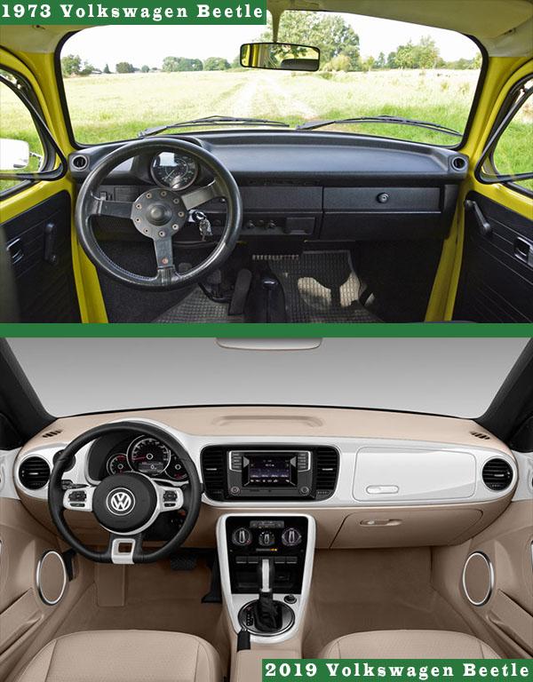 Interior-of-1973-Volkswagen-Beetle-Vs-2019-Volkswagen-Beetle