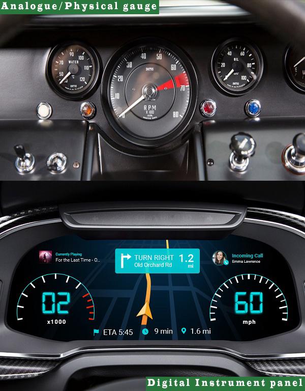 Old-analogue-gauge-Vs-modern-digital-instrument-panel