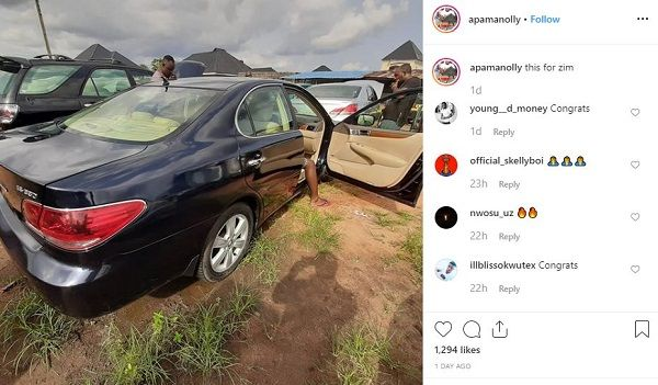 image-of-apama-IG-post-of-his-wife-car-gift
