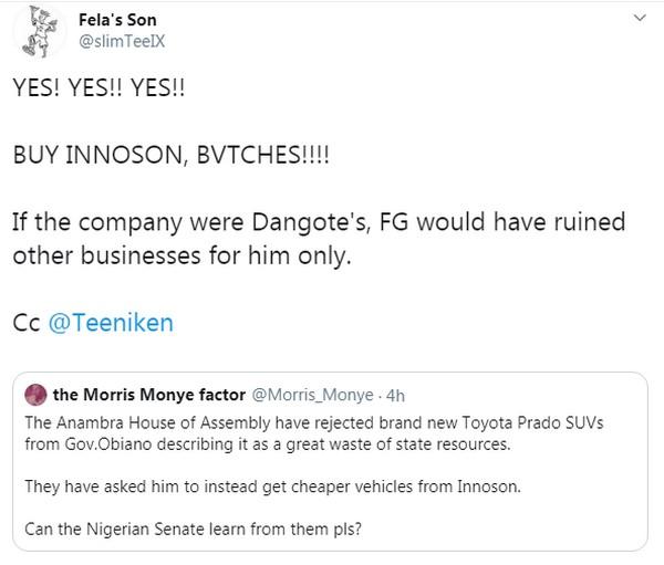 anambra-lawmakers-reject-suvs-tweet