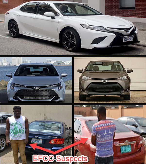 Toyota-Camry-and-Toyota-Corolla-recovered-from-Yahoo-Boys