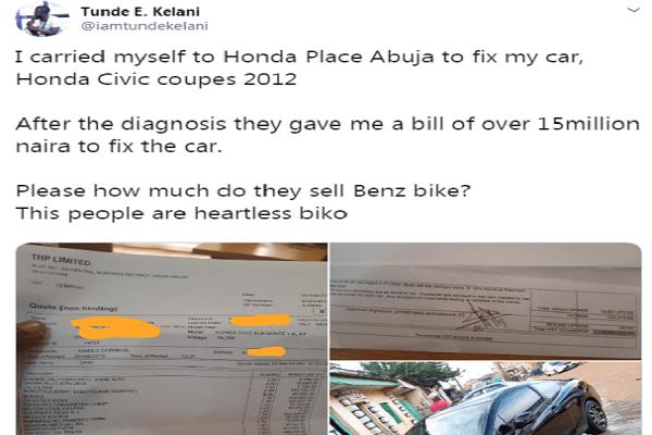 iamtundekelani-narrates-experience-with-the-Honda-place-Abuja-on-twitter