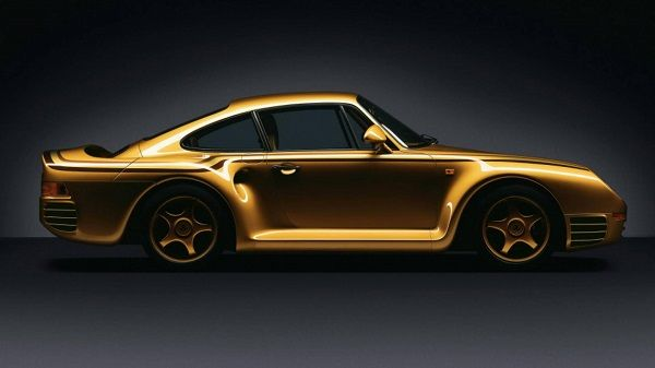 image-of-porsche-959-gold-model-side-view