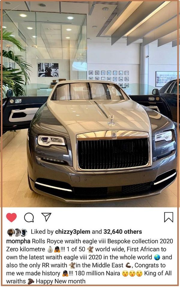 Momphas-instagram-post-about-his-2020-rolls-royce-wraith-eagle-viii