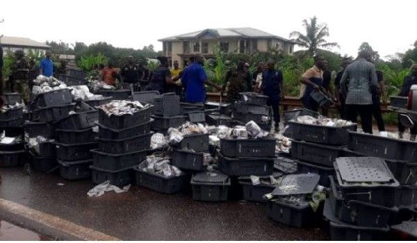 cash-retrieved-from-bank-of-ghana-bullion-van-crash
