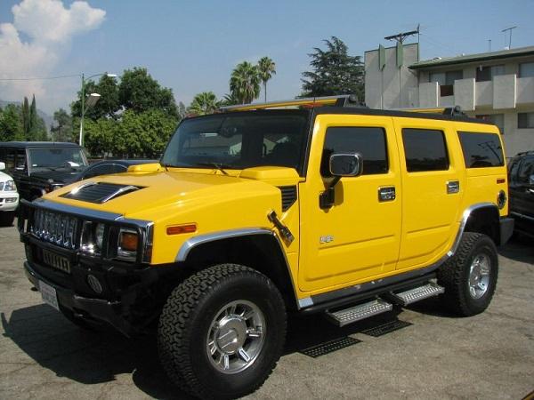 a-yellow-Hummer-2-SUV