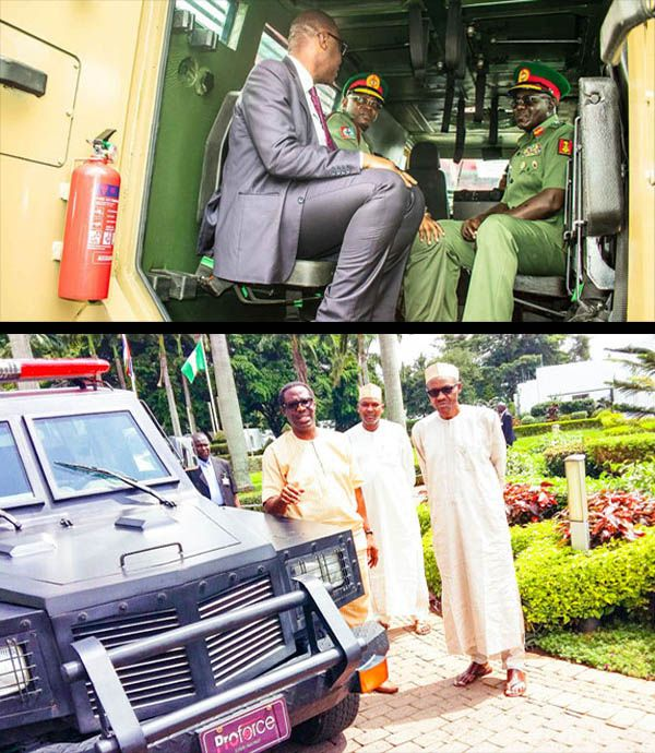 President-Buhari-and-Army-Generals-checking-out-PROFORCE-vehicles