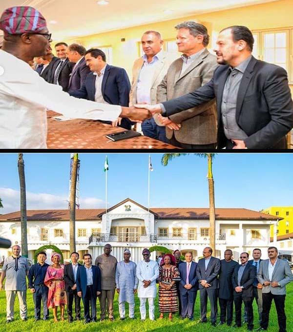 RCC-Arab-Contractors-Julius-Berger-pose-and-meet-with-Sanwo-Olu