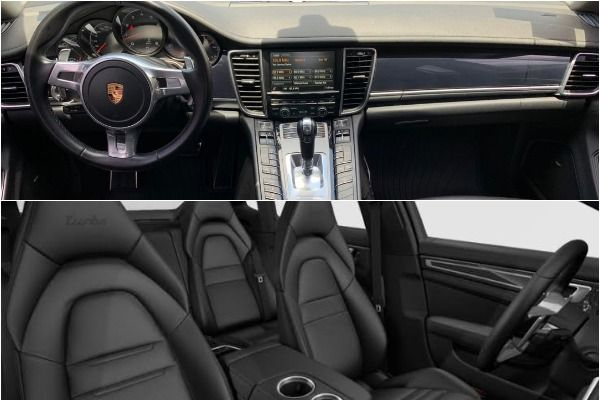 Black-leather-interior-of-the-Porsche-Panamera