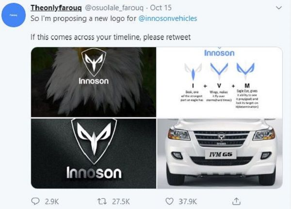 image-of-farouq-innoson-tweet-on-company-logo