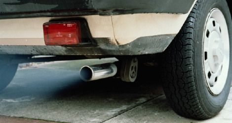 A-car-exhaust-pipe