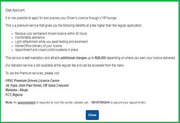 premium-service-notice