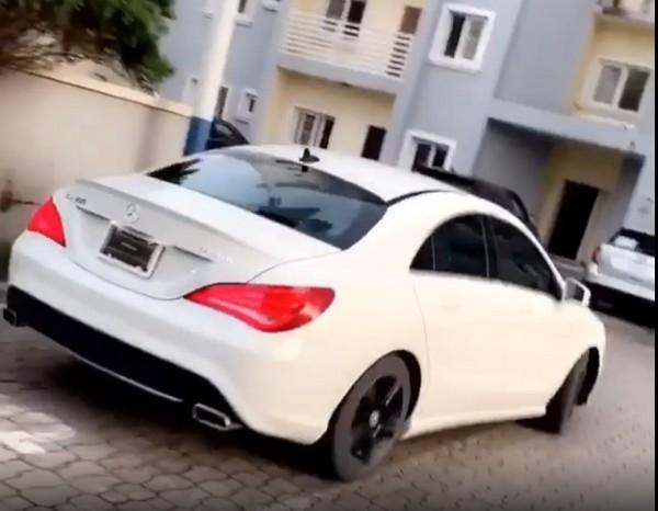 Toyin-new-mercedes-car
