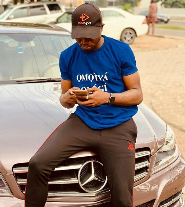 Adegoke-Pamilerin-poses-with-his-Mercedes-Benz-C300-4matic-sedan