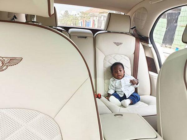 son-of-linda-ikeji-on-Bentley-Mulsanne-back-row-seat