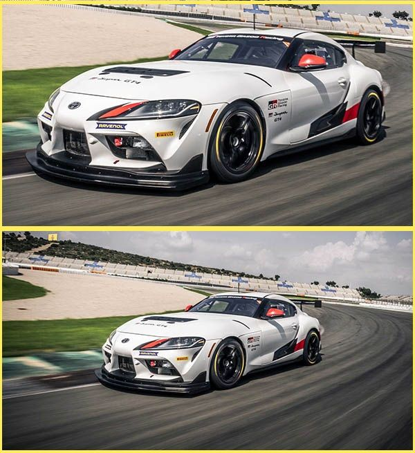 Speeding-Toyota-Supra-GT4-race-car