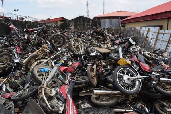 lagos-seized-motorbikes