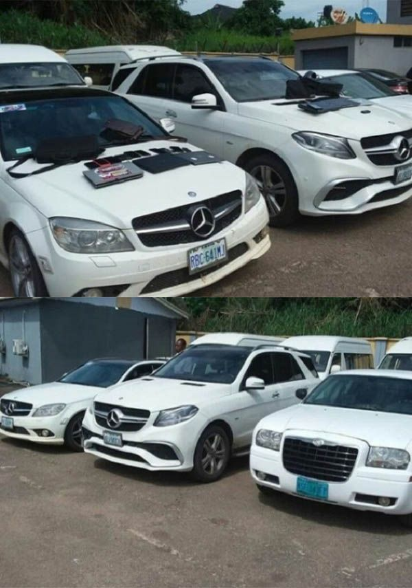 EFCC-shows-Exotic-cars-seized-from-Yahoo-boys