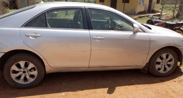 Stolen-Toyota-Camry-recovered-from-Katsina-armed-robber