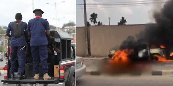 NSCDC-and-their-burning-van