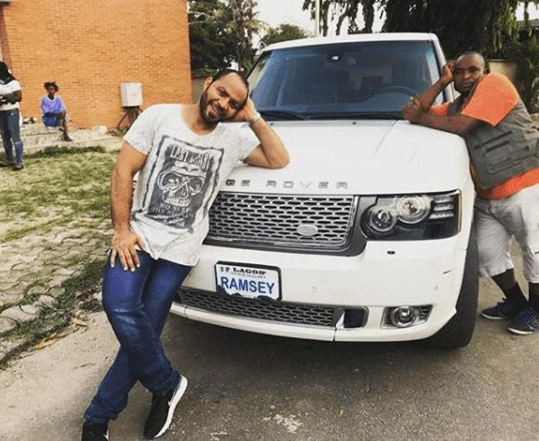 Ramsey-Nouah-with-his-white-Range-Rover-Vogue