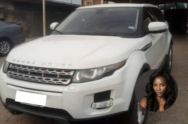 Genevieve-Nnaji-range-rover
