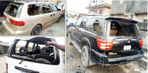 200-vehicles-vandalized-in-Lagos-street-clash