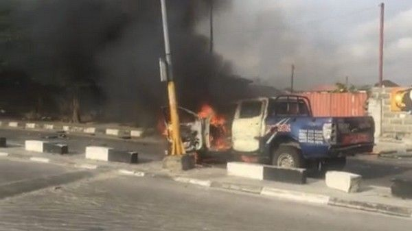 police-van-burnt