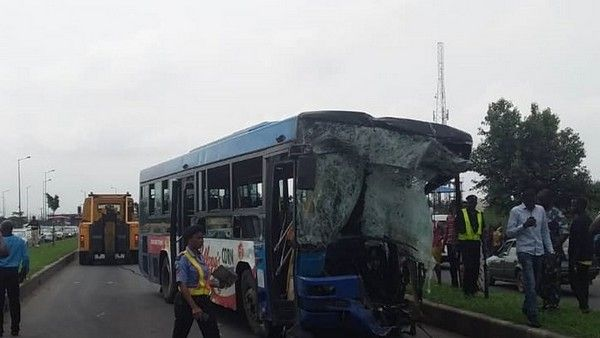 Dangote-truck-collides-with-brt