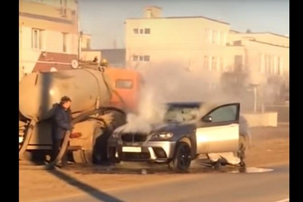 sewage-truck-and-overheat-bmw