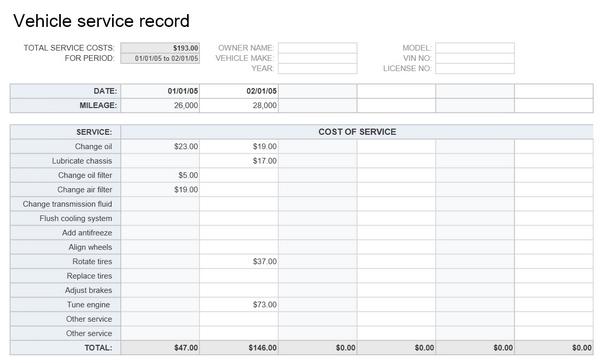Vehicle-service-record