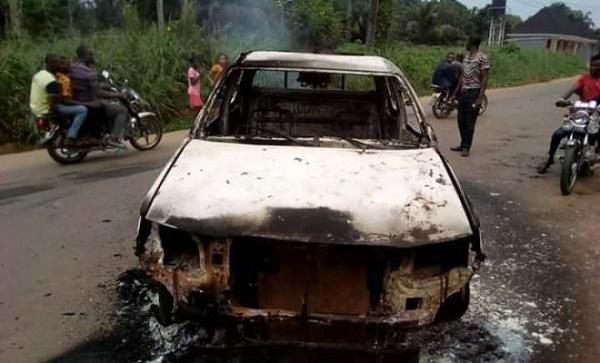 police-van-set-ablaze