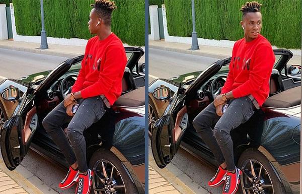 Super-Eagles-star-Samuel-Chukwueze-poses-with-Ferrari-sports-car