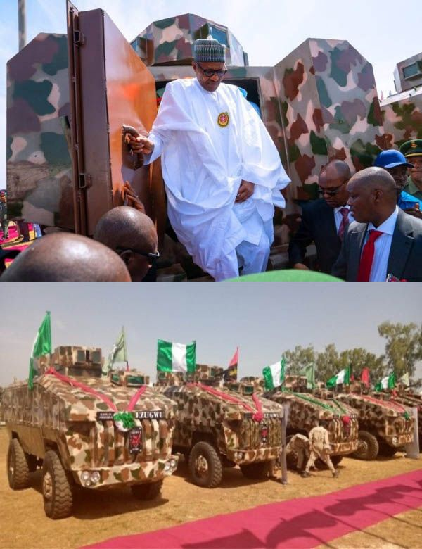 Buhari-commissions-Made-in-Nigeria-MRAP-vehicles-Kaduna