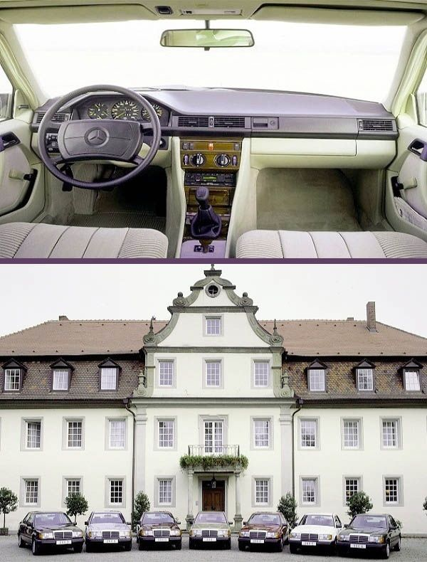 Mercedes-Benz-W124-models-on-display-and-interior-view