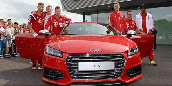 Players-and-Audi-car